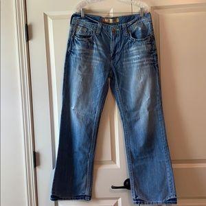 Big Star Pioneer Regular Boot Cut Jeans Size 34R